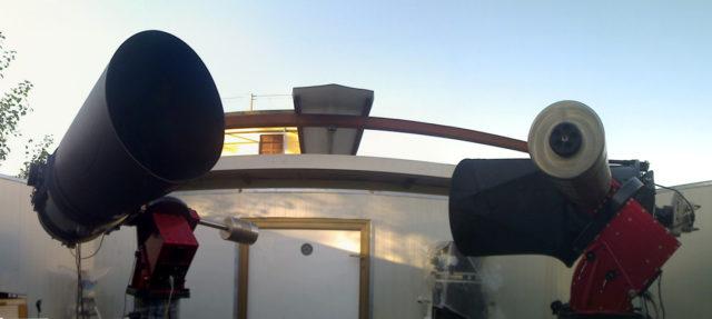 Le due unità robotiche C14 (a sinistra ) e PW17 (destra) ora parte del Virtual Telescope Project