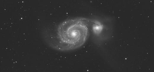 La galassia M 51 (NGC 5194) e NGC 5195)