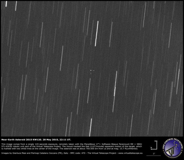 L'asteroide near-Earth 2015 KW120: un'immagine  (28 maggio 2015)