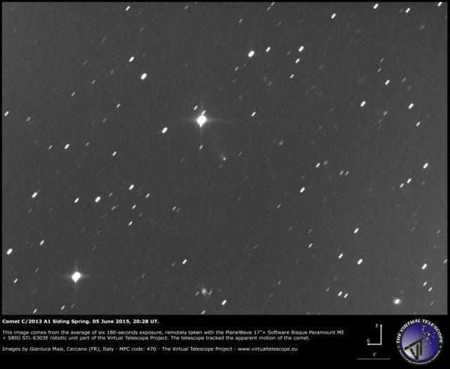 Cometa C/2013 A1 Siding Spring: 5 giugno 2015