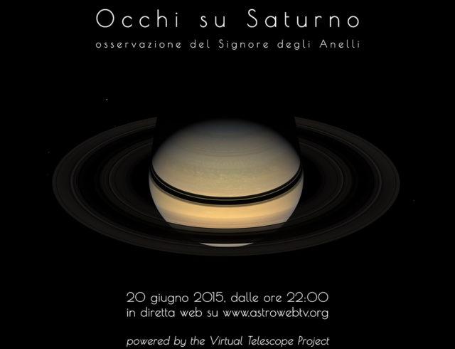"""""""Occhi su Saturno"""": evento online (20 giugno 2015)"""