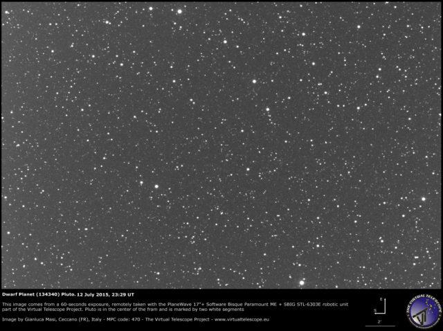 Pianeta Nano (134340) Plutone: un'immagine (12 luglio 2015)