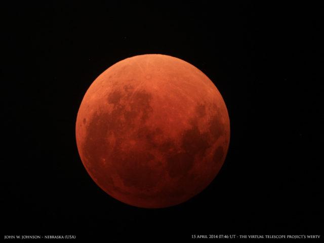 15 Aprile 2014: eclissi totale di Luna