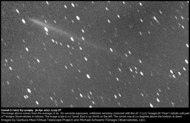 Cometa C/2017 E4 Lovejoy : 30 Aprile 2017