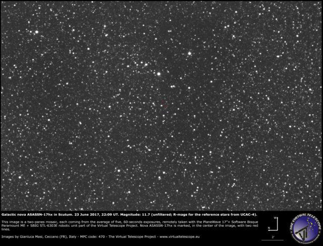 Nova galattica ASASSN-17hx nello Scudo: 23 Giugno2017