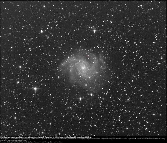 Supernova SN 2017eaw and NGC 6946: 16 giugno 2017