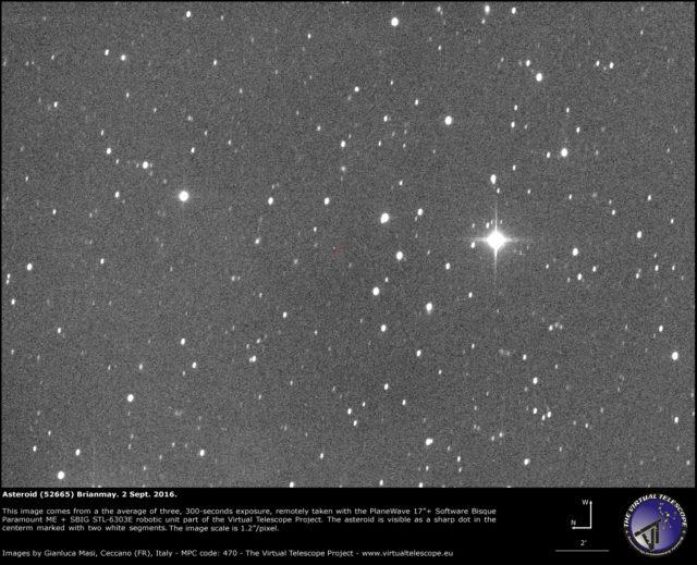 Asteroide (52665) Brianmay, prende il nome da Brian May, chitarrista della band Queen, astrofisico e co-fondatore di Asteroid Day.