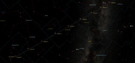 Percorso nel cielo dell'asteroide (3122) Florence