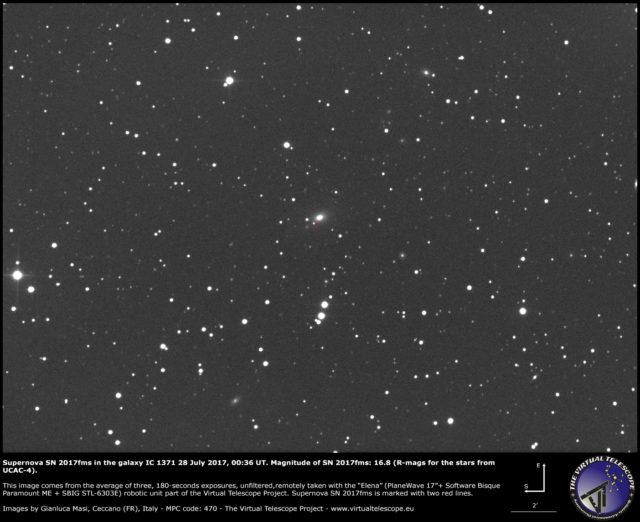 Supernova SN 2017fms nella galassia IC 1371: 28 Luglio 2017
