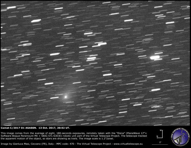 Cometa C/2017 O1 ASASSN: 13 Ottobre 2017