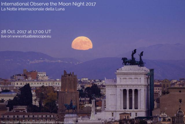 La Notte Internazionale della Luna 2017: osservazioni online - 28 ottobre 2017