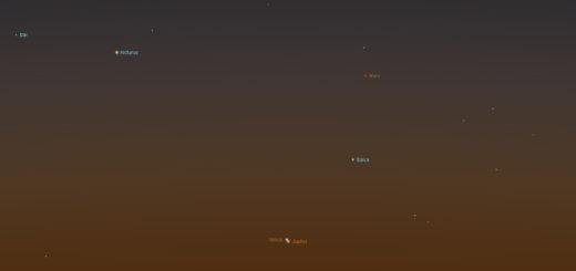 Congiunzione tra Venere e Giove del 2017 - Simulazione per Roma, 13 Nov. 2017, ore 06:15