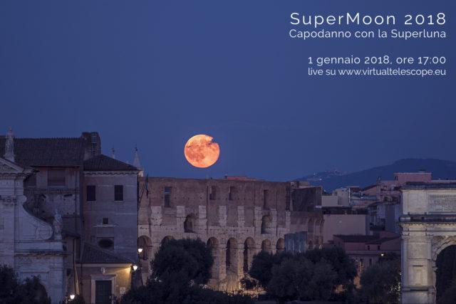 """""""Supermoon 2018"""": poster dell'evento"""