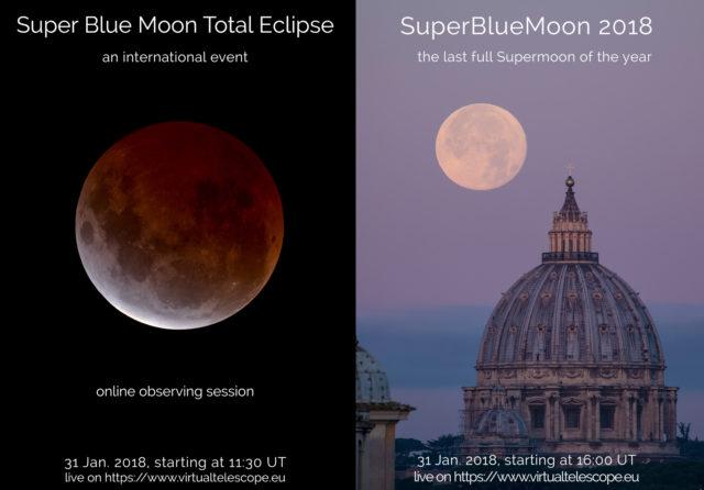 Gli eventi del Virtual Telescope in occasione dell'eclissi totale della Superluna Blu