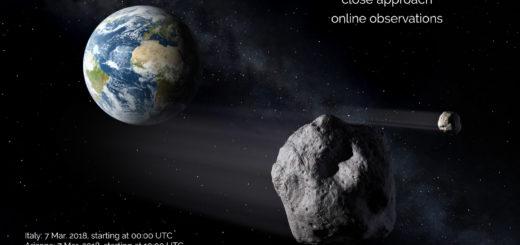 Passaggio asteroide 2017 VR12: poster dell'evento