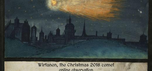 """""""Wirtanen, la cometa del Natale 2018"""": locandina"""