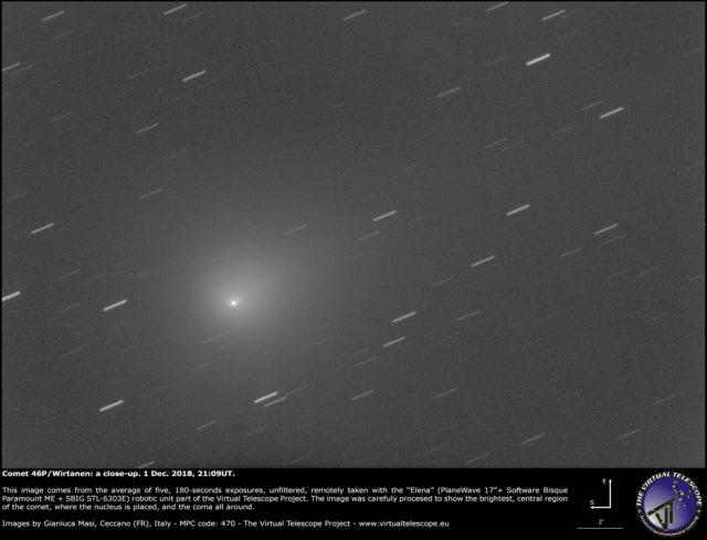 Cometa 46P/Wirtanen: 1 Dic. 2018
