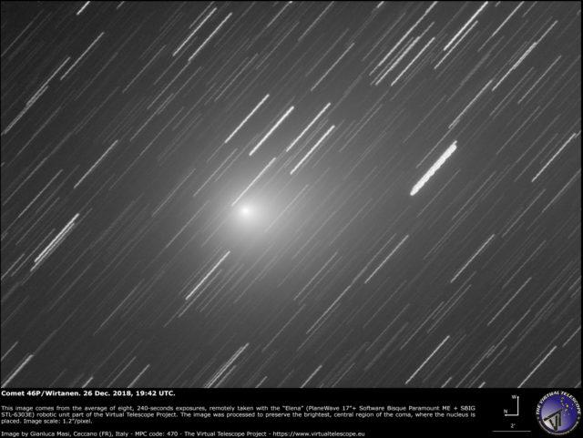 Cometa 46P/Wirtanen: 26 Dic. 2018