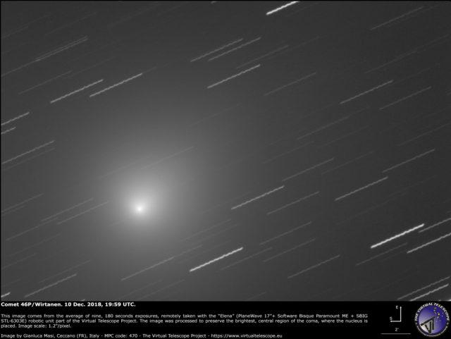 Cometa 46P/Wirtanen: 10 Dic. 2018