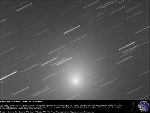Cometa 46P/Wirtanen: 15 Dic. 2018