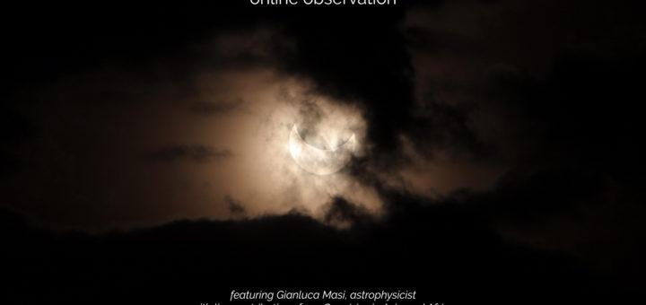 21 giugno 2020, eclissi di Sole - poster dell'evento